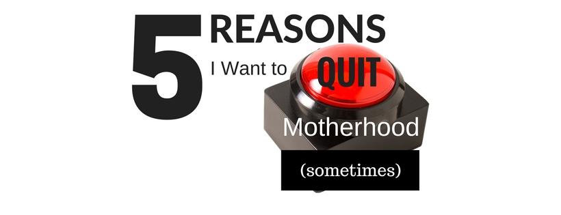 quit motherhood header image